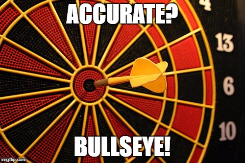 ACCURATE? BULLSEYE! | made w/ Imgflip meme maker