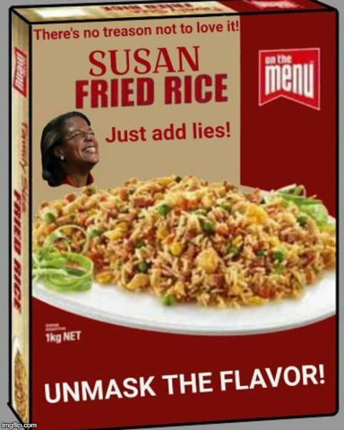 SAVOR THAT DEEP STATE FLAVOR | . | image tagged in susan rice | made w/ Imgflip meme maker