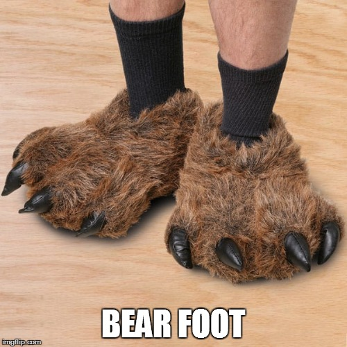 BEAR FOOT | made w/ Imgflip meme maker