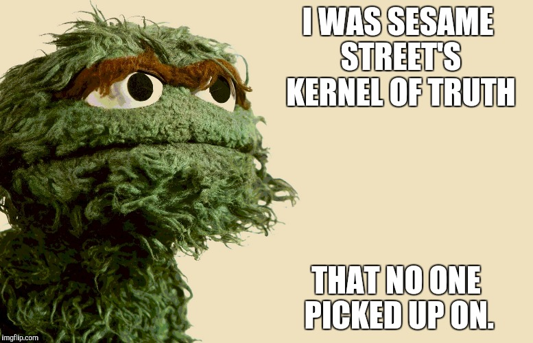 I WAS SESAME STREET'S KERNEL OF TRUTH THAT NO ONE PICKED UP ON. | made w/ Imgflip meme maker
