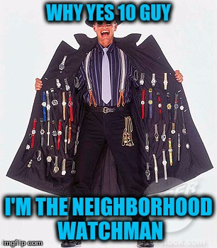 WHY YES 10 GUY I'M THE NEIGHBORHOOD WATCHMAN | made w/ Imgflip meme maker