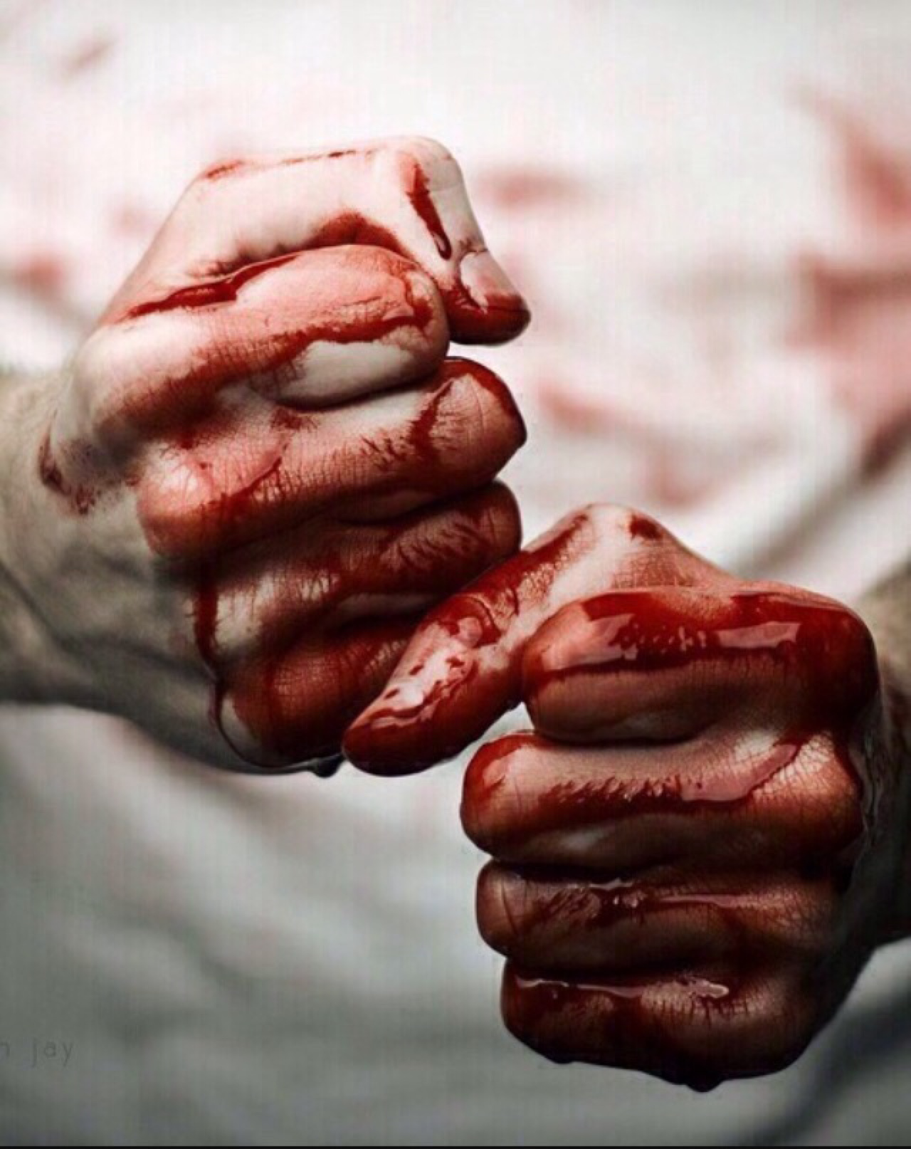 High Quality Bloody Hands Blank Meme Template