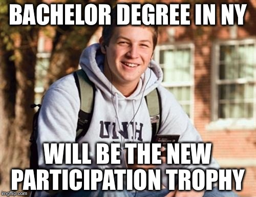 "That's what happens when college is ""Free"" 
