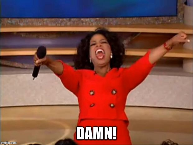 Oprah You Get A Meme | DAMN! | image tagged in memes,oprah you get a | made w/ Imgflip meme maker