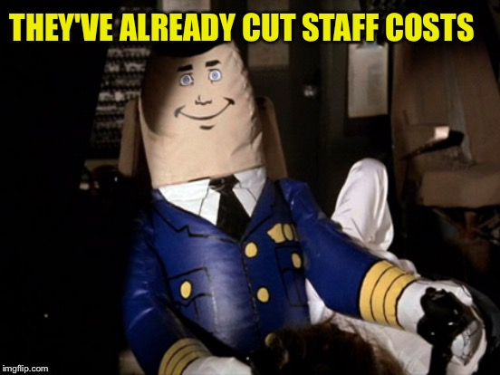 THEY'VE ALREADY CUT STAFF COSTS | made w/ Imgflip meme maker