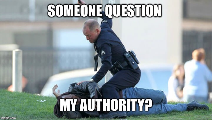 SOMEONE QUESTION MY AUTHORITY? | made w/ Imgflip meme maker
