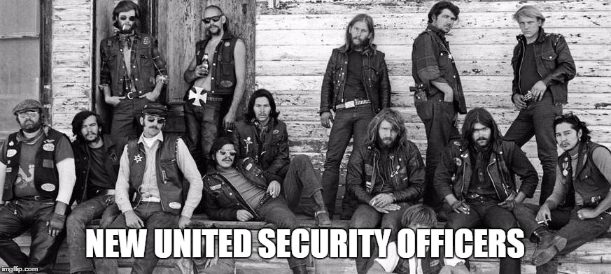 NEW UNITED SECURITY OFFICERS | made w/ Imgflip meme maker
