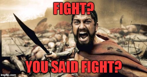 Sparta Leonidas Meme | FIGHT? YOU SAID FIGHT? | image tagged in memes,sparta leonidas | made w/ Imgflip meme maker