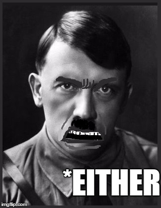 *EITHER | image tagged in spelling nazi | made w/ Imgflip meme maker