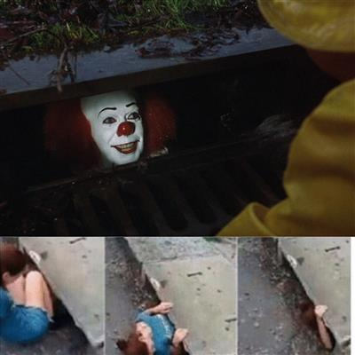High Quality pennywise in sewer Blank Meme Template