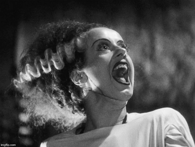 The Bride of Frankenstein | . | image tagged in the bride of frankenstein | made w/ Imgflip meme maker