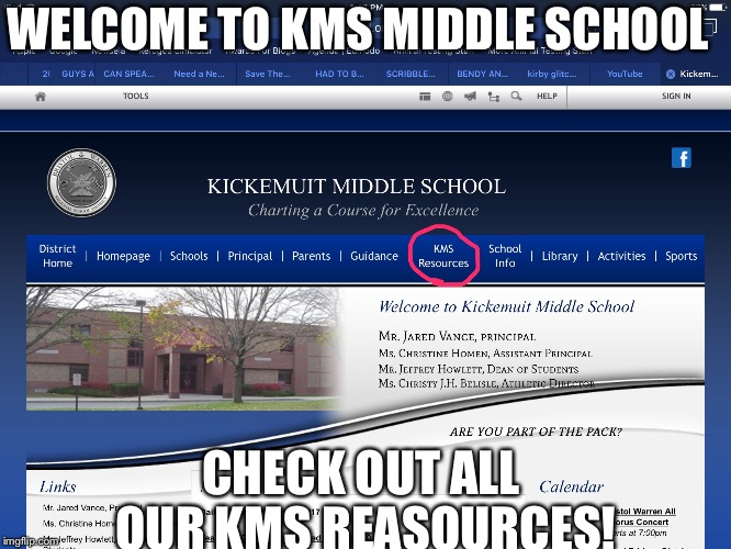 WELCOME TO KMS MIDDLE SCHOOL; CHECK OUT ALL OUR KMS REASOURCES! | image tagged in suicide school,memes,kms | made w/ Imgflip meme maker