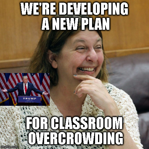 PUT-IN ICE ON LYNN | WE'RE DEVELOPING A NEW PLAN FOR CLASSROOM OVERCROWDING | image tagged in mayor,russia,overcrowding,school | made w/ Imgflip meme maker