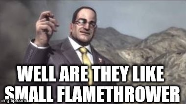 nanomachines, son | WELL ARE THEY LIKE SMALL FLAMETHROWER | image tagged in nanomachines,son | made w/ Imgflip meme maker
