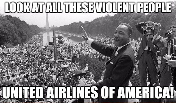 LOOK AT ALL THESE VIOLENT PEOPLE UNITED AIRLINES OF AMERICA! | made w/ Imgflip meme maker