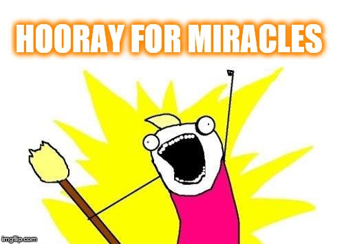 X All The Y Meme | HOORAY FOR MIRACLES | image tagged in memes,x all the y | made w/ Imgflip meme maker