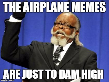 Too Damn High Meme | THE AIRPLANE MEMES ARE JUST TO DAM HIGH | image tagged in memes,too damn high | made w/ Imgflip meme maker