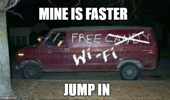 JUMP IN MINE IS FASTER | made w/ Imgflip meme maker