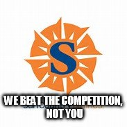 Sun Country | WE BEAT THE COMPETITION, NOT YOU | image tagged in humor,united airlines | made w/ Imgflip meme maker
