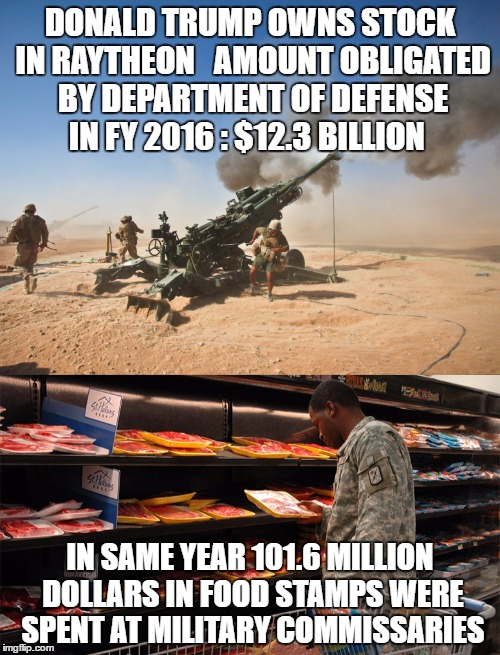 Something Is Wrong Here | DONALD TRUMP OWNS STOCK IN RAYTHEON   AMOUNT OBLIGATED BY DEPARTMENT OF DEFENSE IN FY 2016 : $12.3 BILLION IN SAME YEAR 101.6 MILLION DOLLAR | image tagged in moab,maga,military,military industrial complex | made w/ Imgflip meme maker