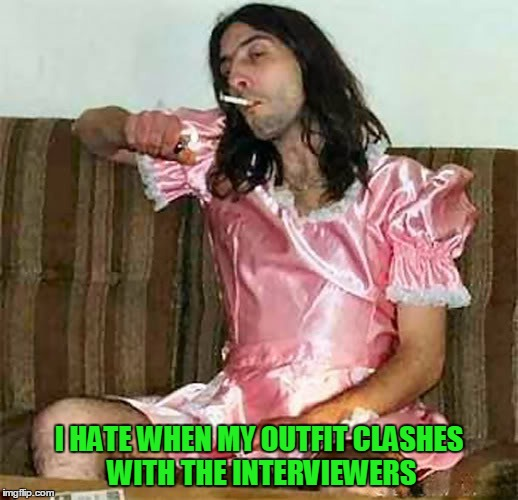 I HATE WHEN MY OUTFIT CLASHES WITH THE INTERVIEWERS | made w/ Imgflip meme maker