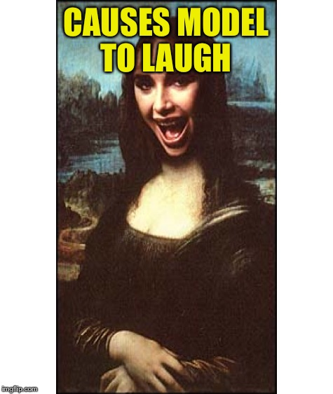 CAUSES MODEL TO LAUGH | made w/ Imgflip meme maker
