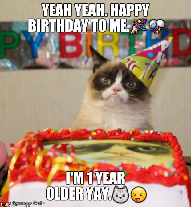 Grumpy Cat Happy Birthday Meme Generator Grumpy Cat Do these even matter is anyone reading this oy vey jesus sleepycast sleepycabin flash animation animation funny animated cartoon oneyng psychicpebbles a hellbenders christmas. grumpy cat happy birthday meme
