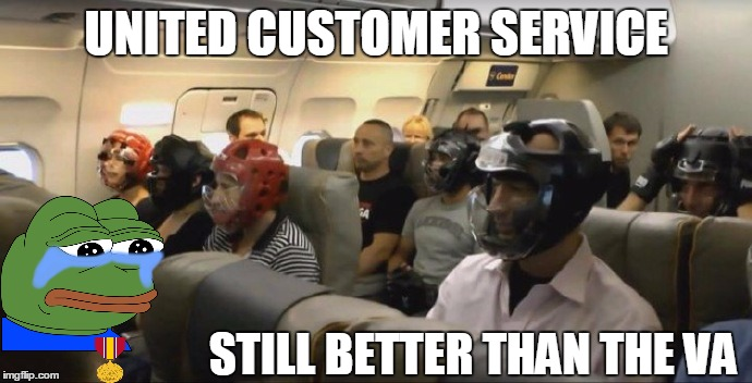 Still beats the VA!  | UNITED CUSTOMER SERVICE STILL BETTER THAN THE VA | image tagged in veterans,meanwhile on united airlines,pepe cry,funny,so true memes,united airlines | made w/ Imgflip meme maker