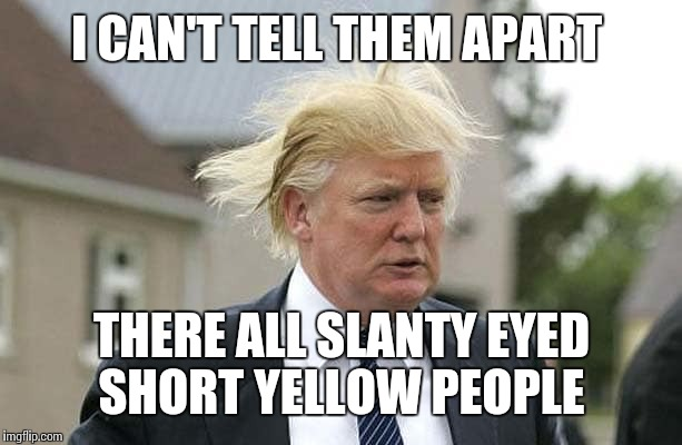 I CAN'T TELL THEM APART THERE ALL SLANTY EYED SHORT YELLOW PEOPLE | made w/ Imgflip meme maker