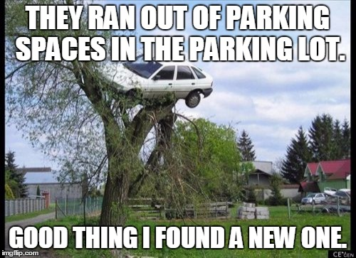 Image result for parking lot meme