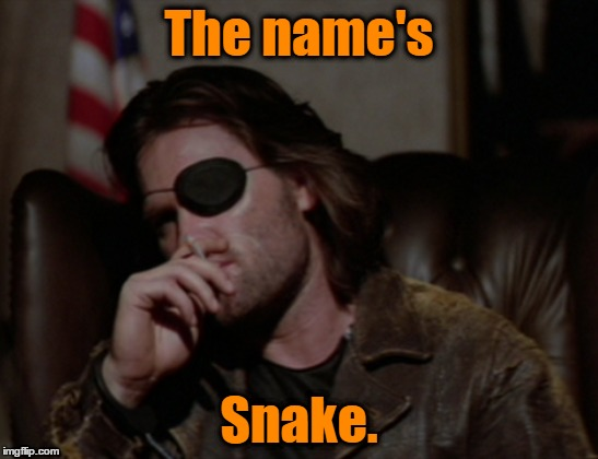 The name's Snake. | made w/ Imgflip meme maker