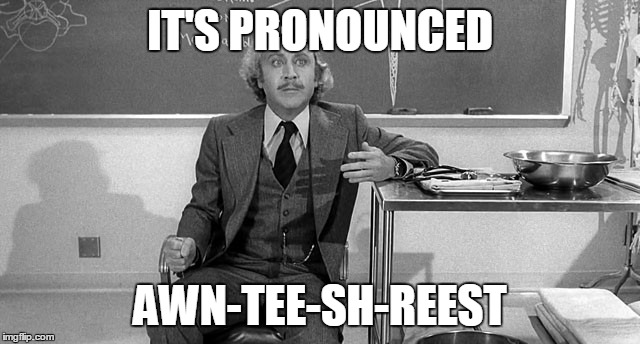 IT'S PRONOUNCED AWN-TEE-SH-REEST | made w/ Imgflip meme maker