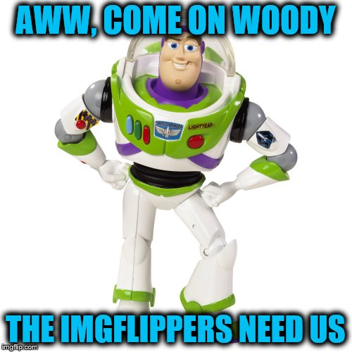 AWW, COME ON WOODY THE IMGFLIPPERS NEED US | made w/ Imgflip meme maker