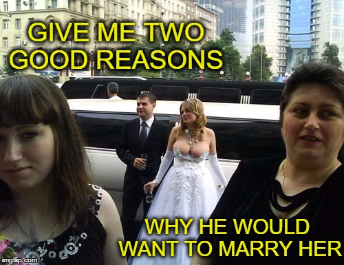 Cinderella the pumpkin twins and the evil step sisters    | GIVE ME TWO GOOD REASONS WHY HE WOULD WANT TO MARRY HER | image tagged in cleavage week,marry,memes,funny,the dress | made w/ Imgflip meme maker