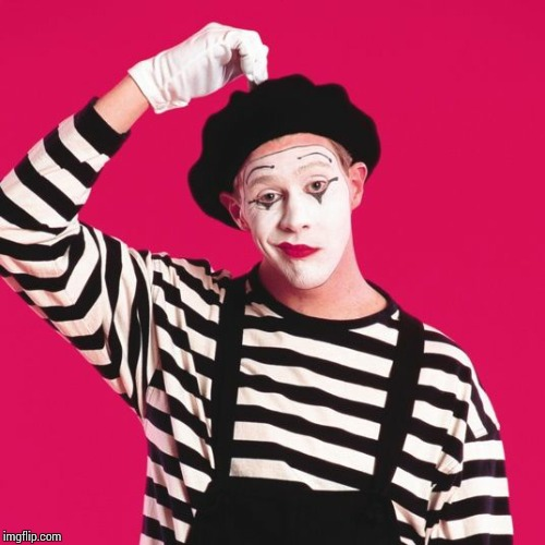 confused mime | . | image tagged in confused mime | made w/ Imgflip meme maker