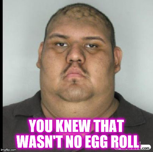 YOU KNEW THAT WASN'T NO EGG ROLL | made w/ Imgflip meme maker