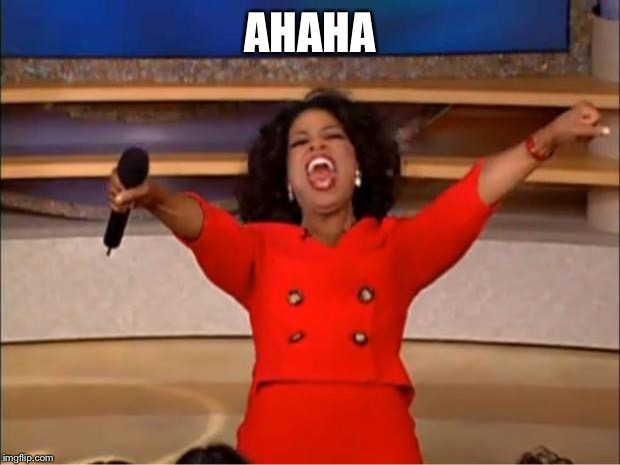 Oprah You Get A Meme | AHAHA | image tagged in memes,oprah you get a | made w/ Imgflip meme maker