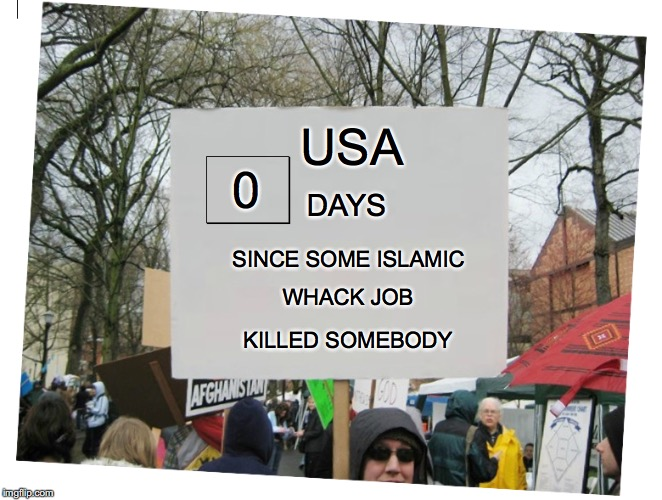 Terrorism or Hate Crime? | DAYS SINCE SOME ISLAMIC WHACK JOB KILLED SOMEBODY USA 0 | image tagged in islamic terrorism,shooting,fresno | made w/ Imgflip meme maker