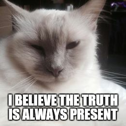 I BELIEVE THE TRUTH IS ALWAYS PRESENT | made w/ Imgflip meme maker