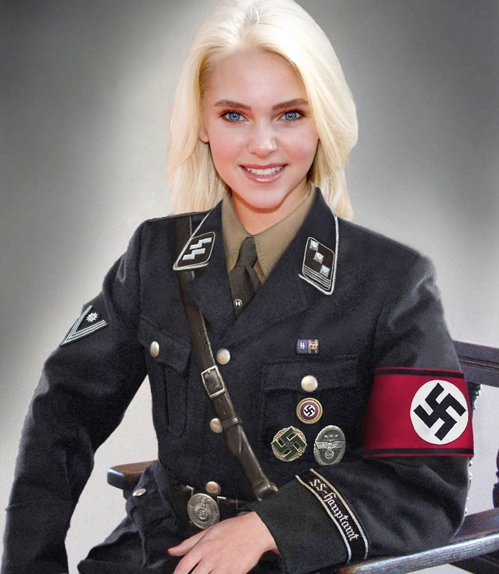 Think, that blonde nazi girl words... super