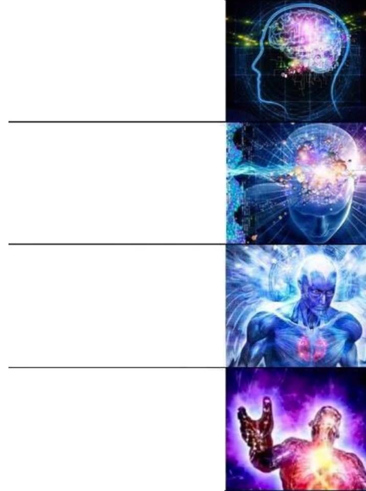 High Quality Expanding Brain Blank Meme Template
