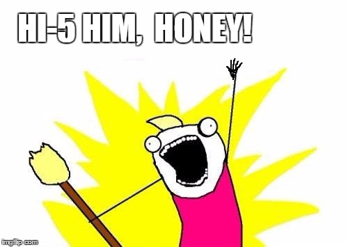 X All The Y Meme | HI-5 HIM,  HONEY! | image tagged in memes,x all the y | made w/ Imgflip meme maker