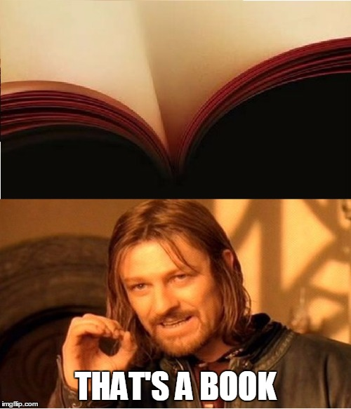 guess what's on the picture? | THAT'S A BOOK | image tagged in meme,cleavage week,optical illusion,book | made w/ Imgflip meme maker
