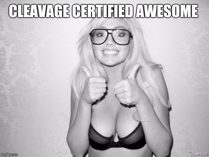 CLEAVAGE CERTIFIED AWESOME | made w/ Imgflip meme maker