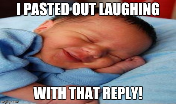 I PASTED OUT LAUGHING WITH THAT REPLY! | made w/ Imgflip meme maker