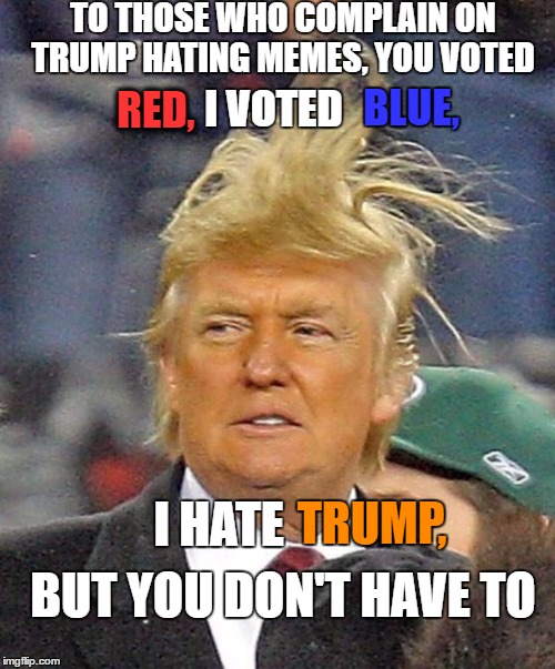"Honestly, this happens whenever I even THINK about commenting negatively on a DT praising ""meme"" 
