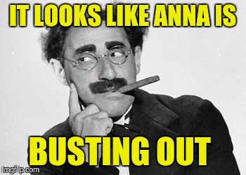 IT LOOKS LIKE ANNA IS BUSTING OUT | made w/ Imgflip meme maker