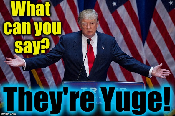 What can you say? They're Yuge! | made w/ Imgflip meme maker