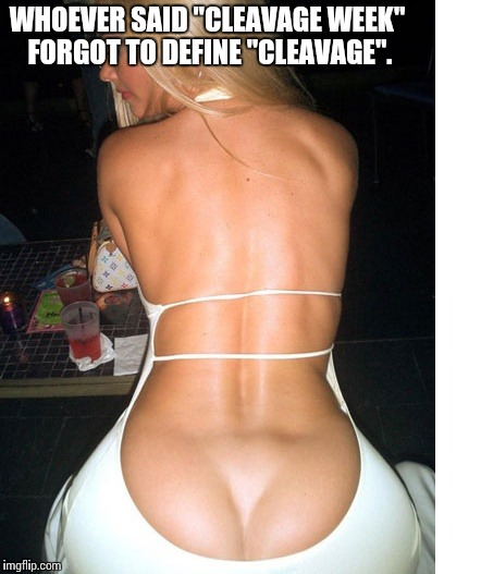 "Define Cleavage | WHOEVER SAID ""CLEAVAGE WEEK"" FORGOT TO DEFINE ""CLEAVAGE"". 