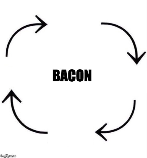 It's that simple. | BACON | image tagged in the circle of life,bacon | made w/ Imgflip meme maker